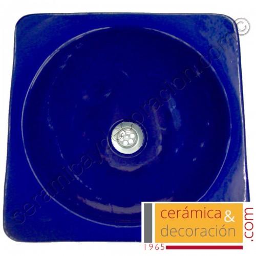 Lavabo cuadrado azul esfinge