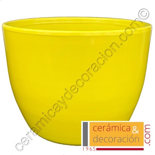 Maceta recta Amarillo Luminoso