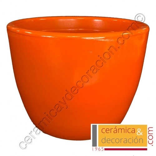 Maceta recta Naranja