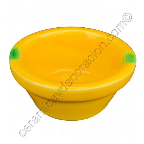 Cuenco o salsero amarillo