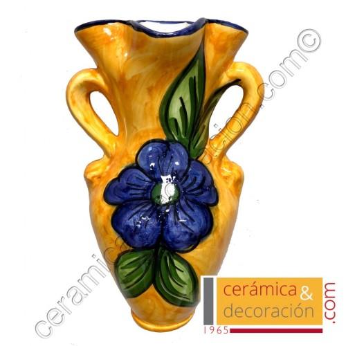 Pileta jarra 4 picos decorada flor