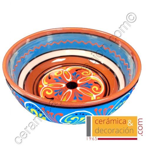 Bol de cerámica 23 cm azul