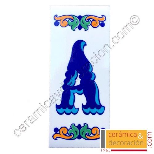 Letra A Cenefa azul