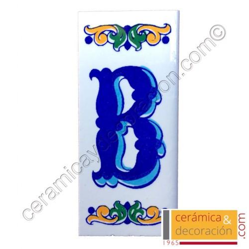 Letra B Cenefa azul