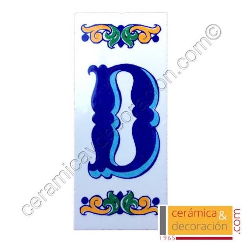 Letra D Cenefa azul