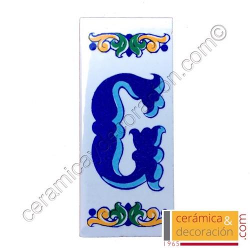 Letra G Cenefa azul