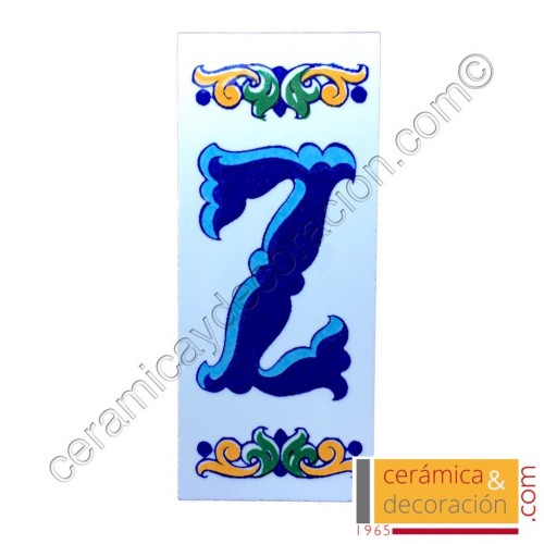 Letra Z Cenefa azul