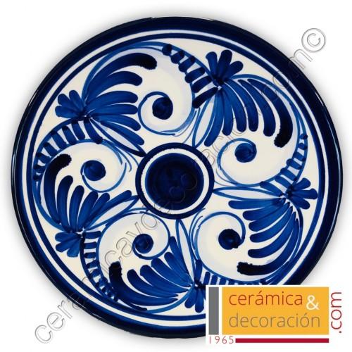 Plato cenefa azul 22 cm