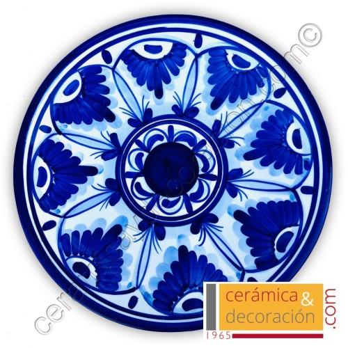 Plato andaluz azul 28 cm