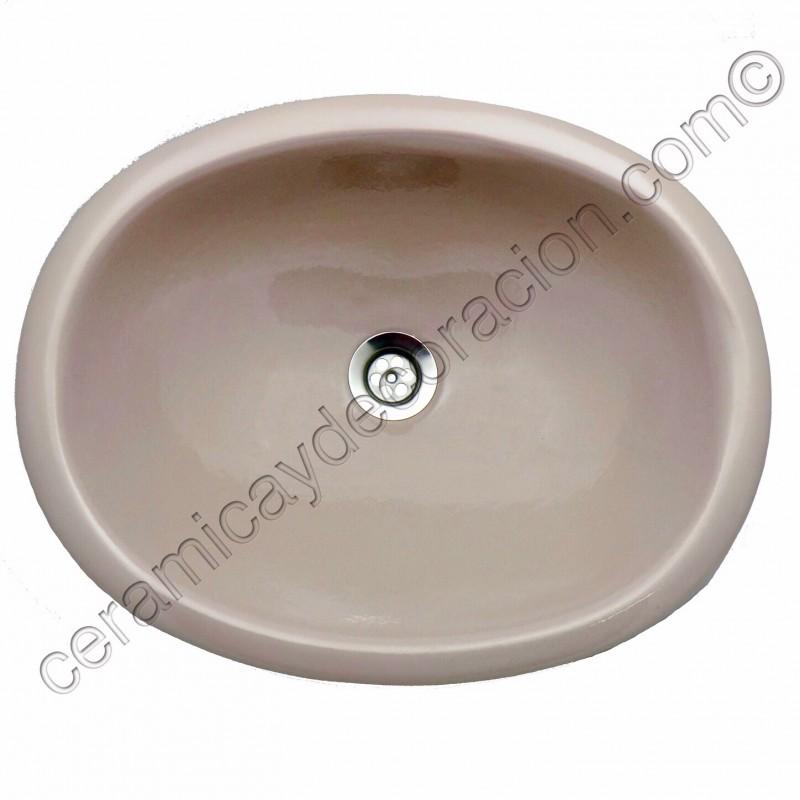 Lavabo o fregadero de barro o ceramica barato barbacoa for Fregaderos de barro