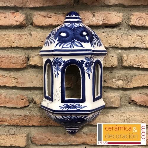 Aplique Malaga flor azul