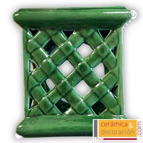 Aplique cuadrado verde