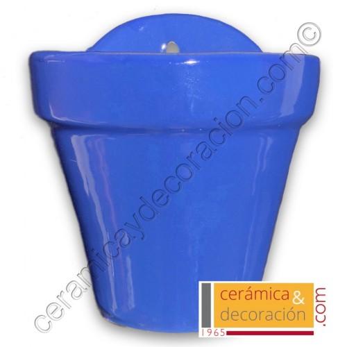 Maceta de colgar azul selenio
