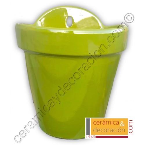 Maceta de colgar verde selenio