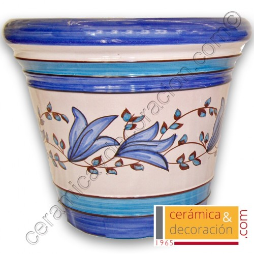 Maceta Jerez tulipán azul