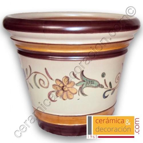 Maceta Jerez margarita marrón