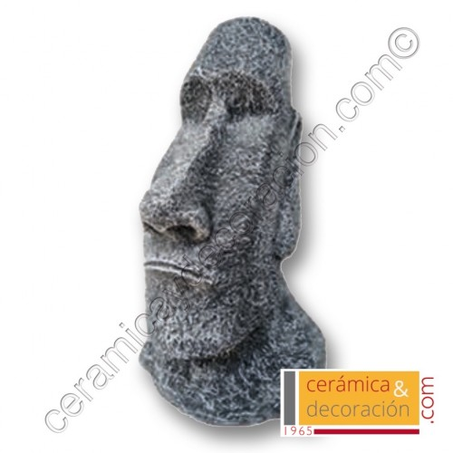 Estatua Moai 40 cm gris