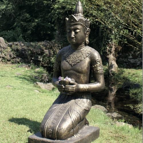 Estatua Buda cuenco gris