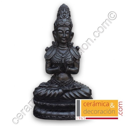 Estatua Buda pedestal negro