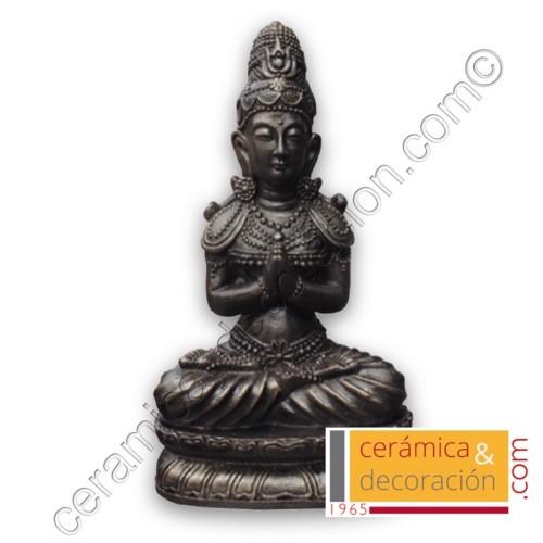 Estatua Buda pedestal negro bronce