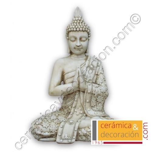 Buda Thai flores beige