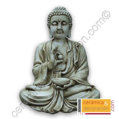 Estatua Buda grande beige