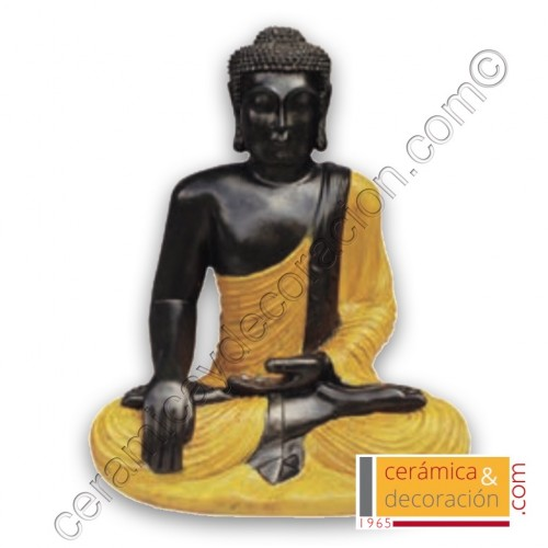 Buda pequeño túnica amarilla