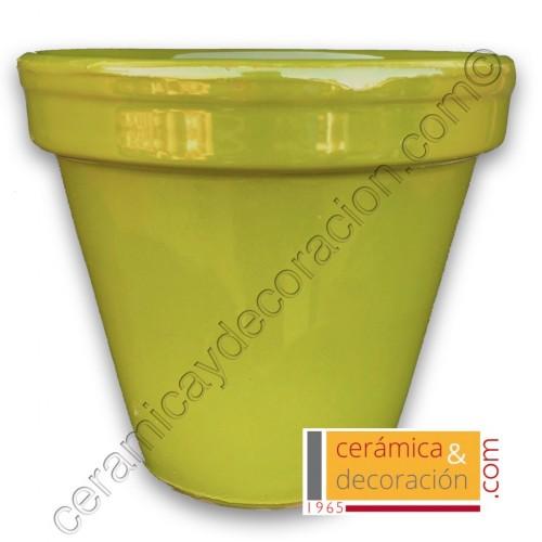 Maceta de suelo verde selenio