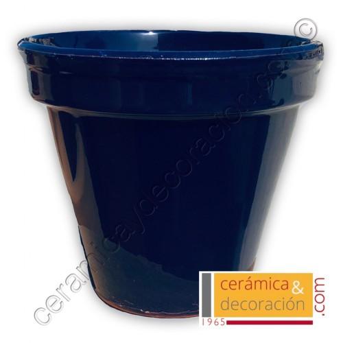Maceta de suelo azul cobalto