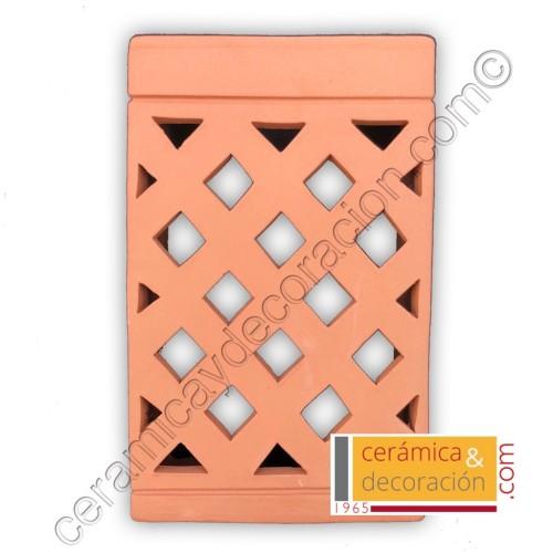 Aplique cruzado rectangular