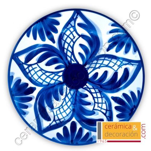 Plato cenefa azul 17 cm