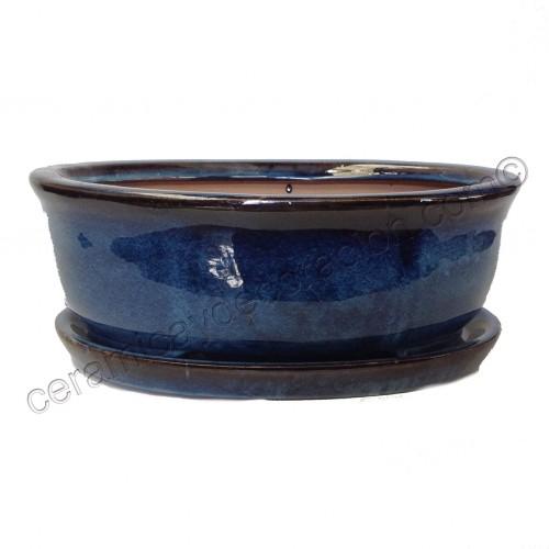 Maceta Japonesa Ovalada color azul