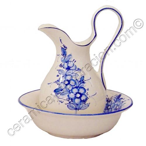 Juego de lavabo Flor azul
