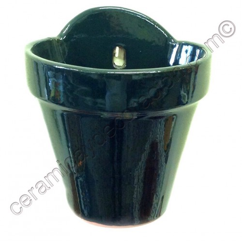 Maceta de colgar verde inglés