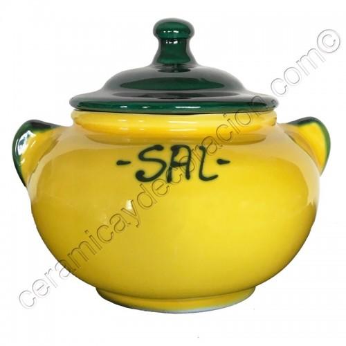 Salero amarillo bajo