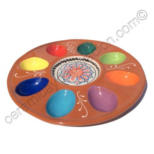 Huevera redonda cerámica
