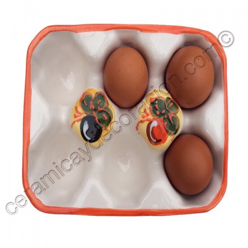 Huevera cartón seis huevos