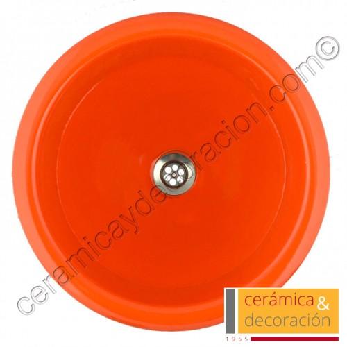 Lavabo redondo naranja luminoso