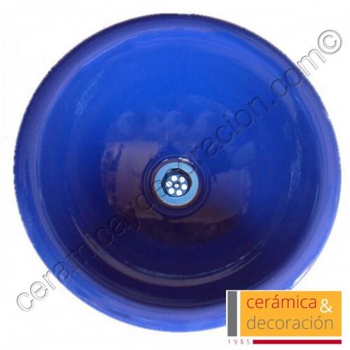 Lavabo redondo azul esfinge