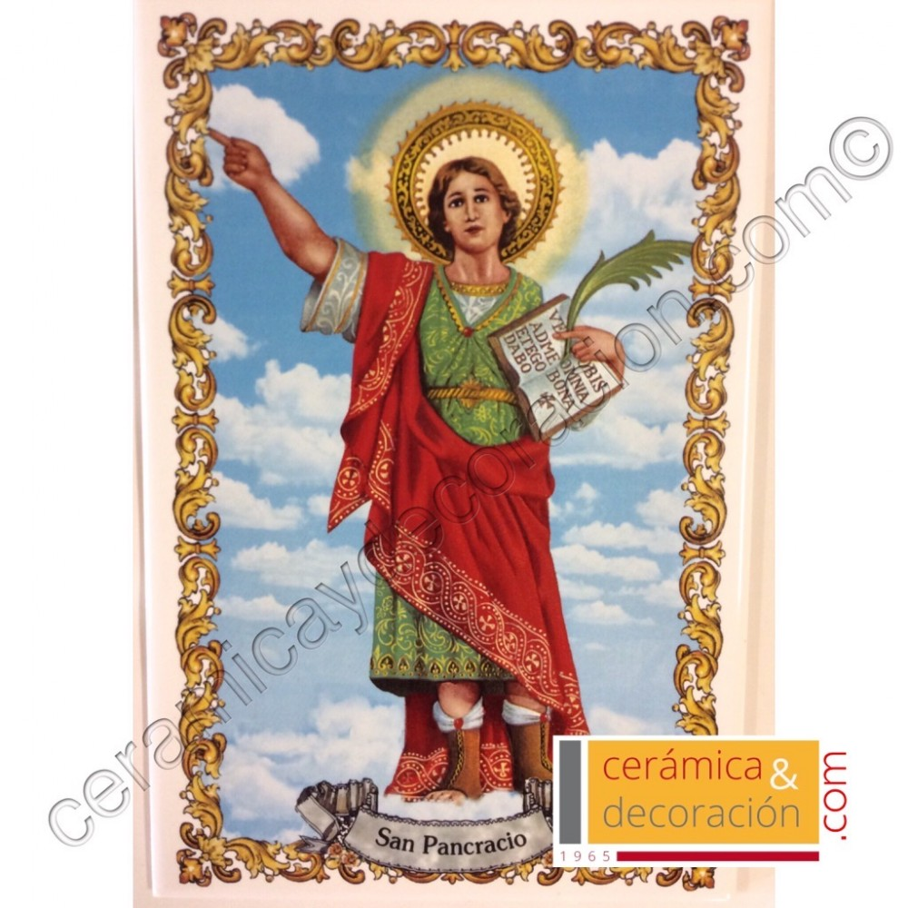 a3eb1ddcfff Imagen religiosa ceramica barro jpg 1000x1000 San pancracio