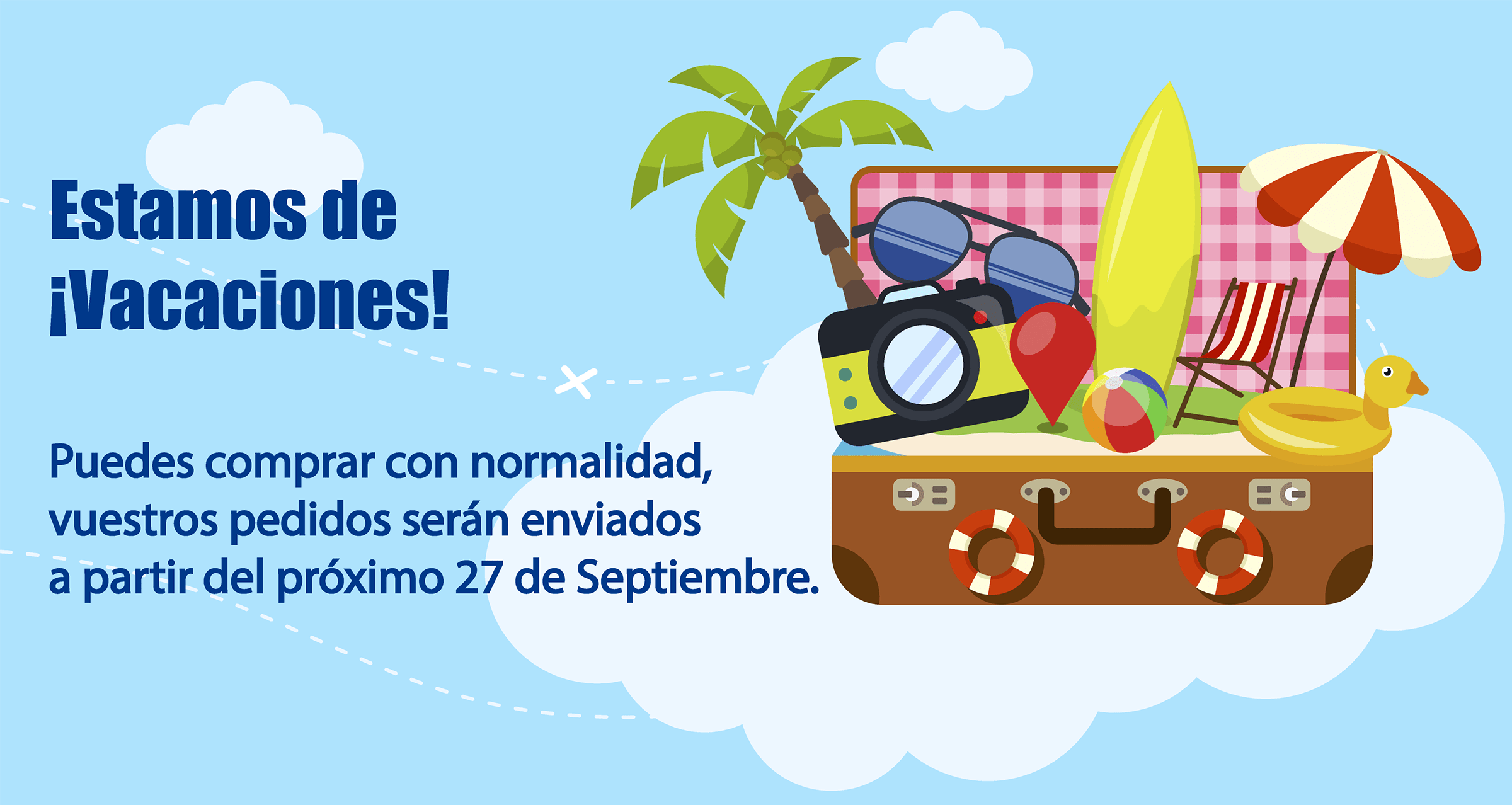 Vacaciones hasta el próximo 27 de Septiembre